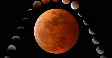 القمر يشرق مخسوفا يوم الأربعاء المقبل