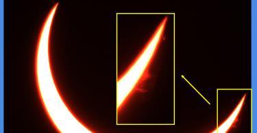 المركز يصور كسوف الشمس من أبوظبي يوم 21 يونيو 2020