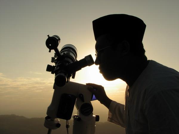 Observation du croissant au téléscope en indonesie le 21/08/2009